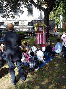 Mr Punch was a big hit with the kids